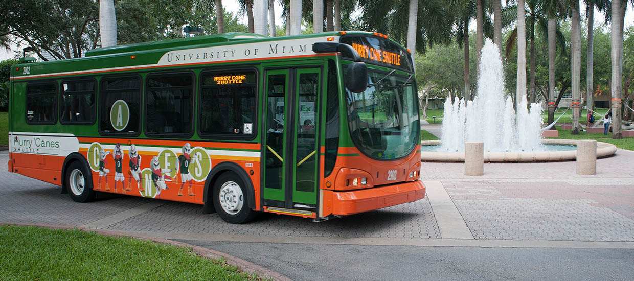 Hurry 'Canes shuttle driving on campus